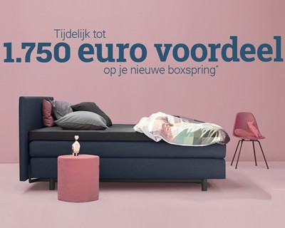 Auping original boxspring actie interieur paauwe zonnemaire