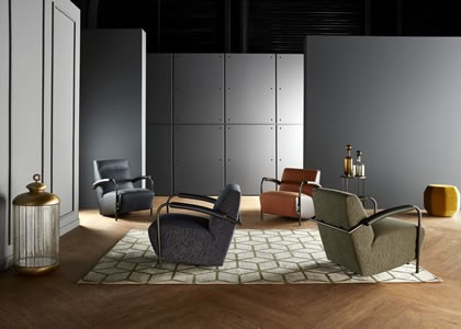 leolux introduceert de nieuwe scylla stories fauteuils deze serie bestaat uit tien uitvoeringen vernoemd naar literaire archetypes zoals bijvoorbeeld de
