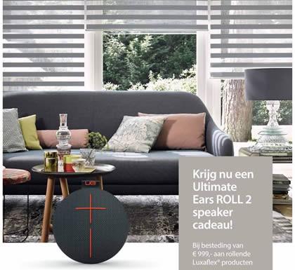 van 999 is incl btw en gebaseerd op de tijdens de actieperiode geldende verkoop adviesprijzen voor raamdecoratie en opties van luxaflex nederland