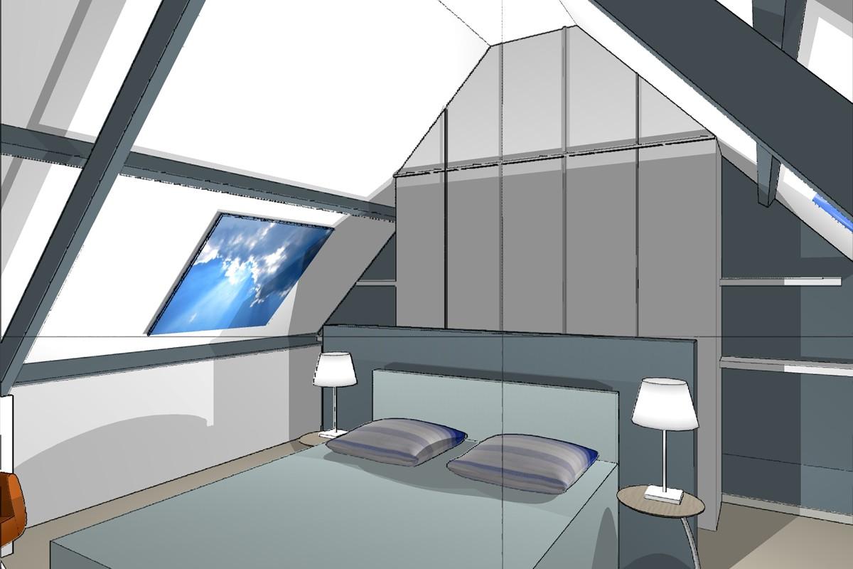 Slaapkamer op zolder | Interieur Paauwe Zonnemaire